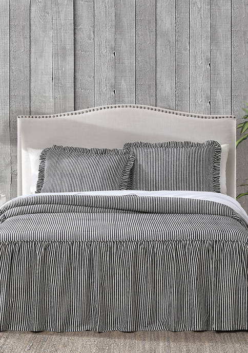 Hawthorne Park Ticking Stripe Bedspread Set