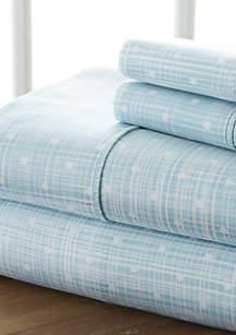 Luxury Inn Premium Ultra Soft Polka Dot Pattern Bed Sheet Set