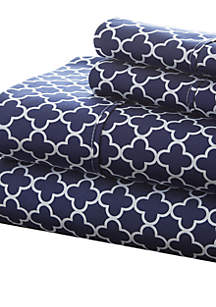 Luxury Inn Premium Ultra Soft Quadrafoil Pattern Bed Sheet Set