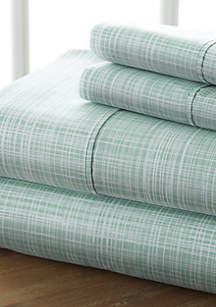 Luxury Inn Premium Ultra Soft Thatch Pattern 4 Piece Bed Sheet Set