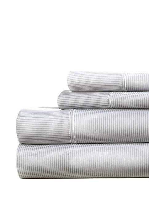 Luxury Inn Premium Ultra Soft Pinstriped Pattern Bed