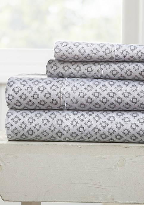 Premium Ultra Soft Polaris Pattern 4 Piece Bed Sheet Set