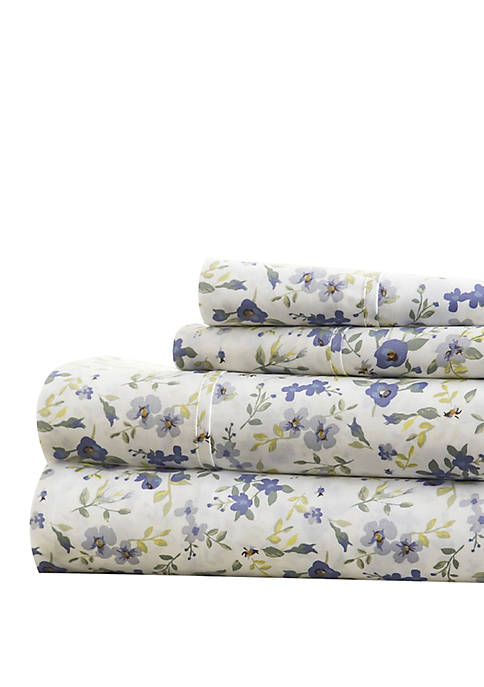 Premium Ultra Soft Blossoms Pattern Bed Sheets Set