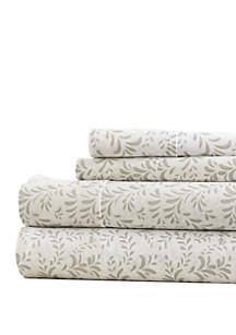 Luxury Inn Premium Ultra Burst of Vines Pattern Bed Sheets Set