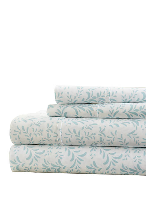 Premium Ultra Burst of Vines Pattern Bed Sheets Set