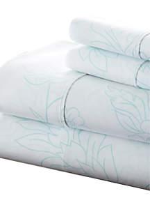 Luxury Inn Premium Ultra Soft Vine Pattern Bed Sheet Set