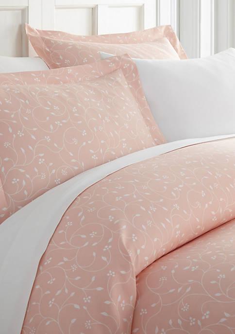 Premium Ultra Soft Pink Buds Pattern 3 Piece Duvet Cover Set