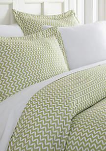 Luxury Inn Premium Ultra Soft Puffed Chevron Print Duvet Cover Set