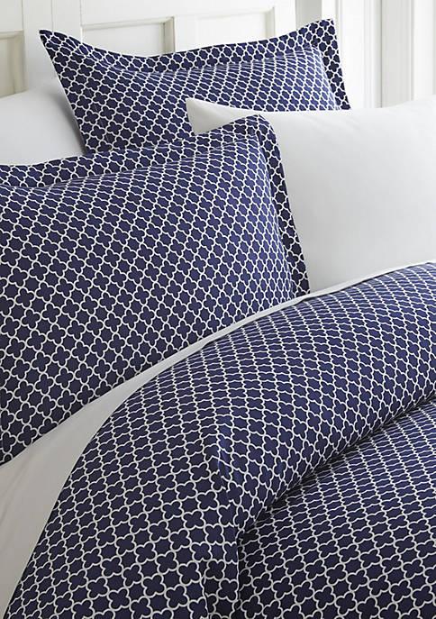 Premium Ultra Soft Quatrefoil Pattern Duvet Cover Set