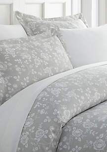 Luxury Inn Premium Ultra Soft Rose Gray Pattern 3 Piece Duvet Cover Set