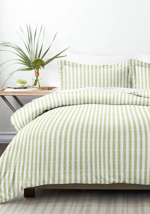 Premium Ultra Soft 3 Piece Puffed Rugged Stripes Duvet Cover Set