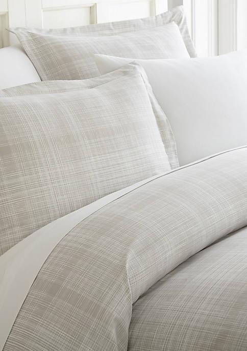Premium Ultra Soft Thatch Pattern 3 Piece Duvet Cover Set
