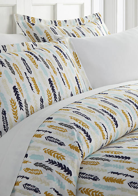 Premium Ultra Soft Feathers Pattern Duvet Cover Set