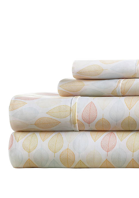 Premium Ultra Soft Fall Foliage Pattern Bed Sheet Set