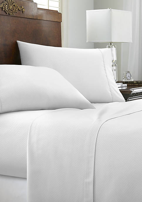 Luxury Inn Premium Chevron Embossed Bed Sheet Set