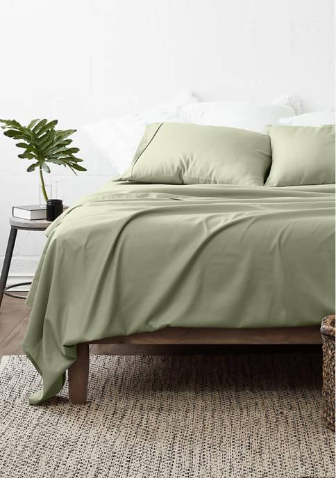 Luxury Inn Premium Chevron Embossed Bed Sheet Set