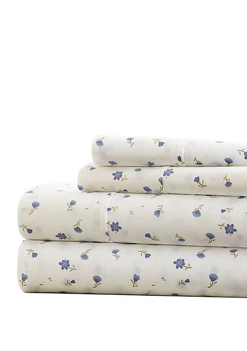 Premium Ultra Soft Floral Pattern Bed Sheet Set