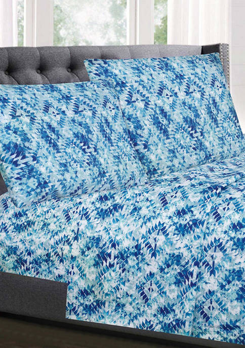 Sweet Home Collection Aqualina Geometric Pattern 1500 Supreme