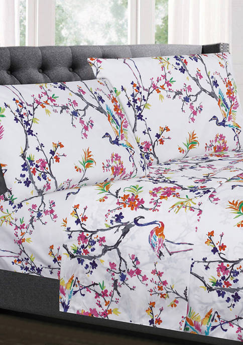 Sweet Home Collection Botanical Pastel Floral Pattern 1500