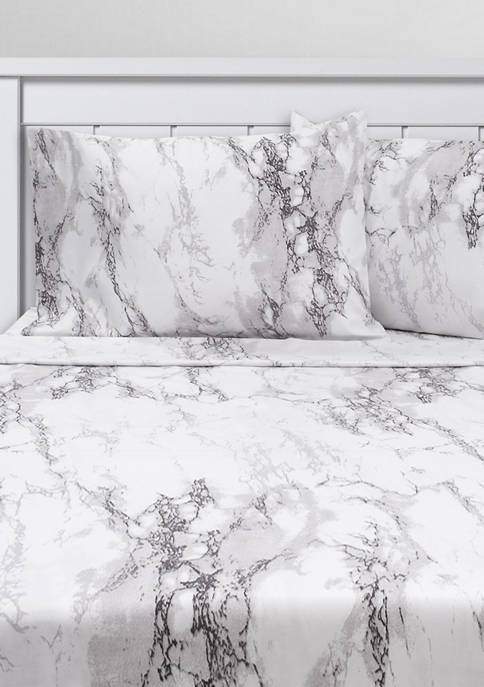 Sweet Home Collection Marble Print Sheet Set