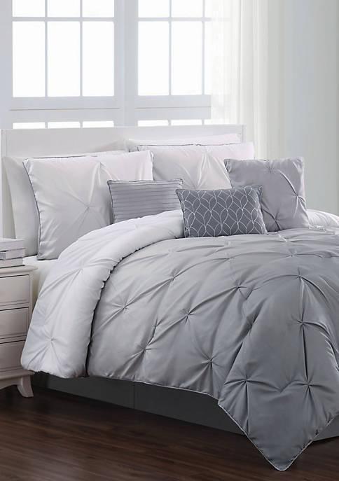 Bergen Ombre Pintuck Comforter Set