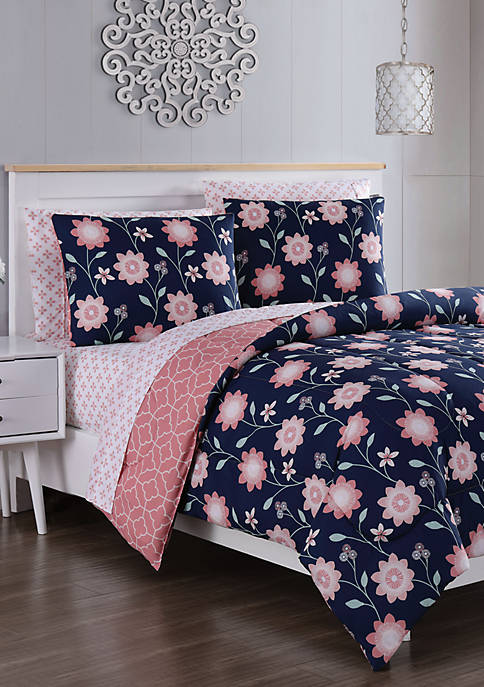 Blush Britt 7 Piece Comforter Set