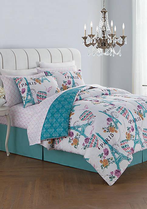 Blush Darcy 8 Piece Comforter Set