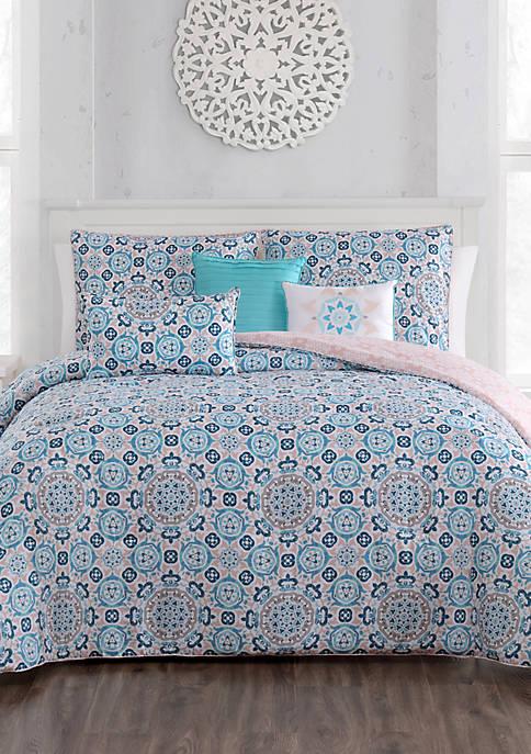 Aurora Stone Brinley 6 Piece Comforter Set
