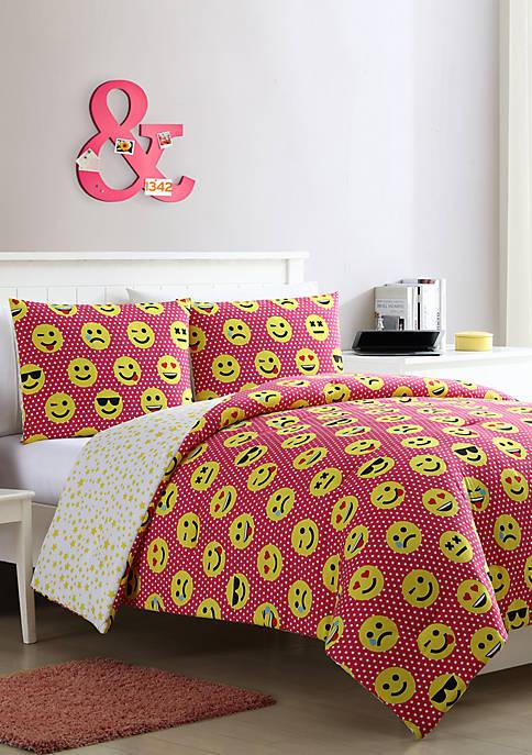Facey Emoji Comforter Set