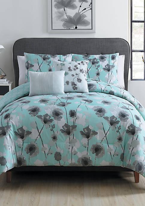 Poppy Floral Comforter Set