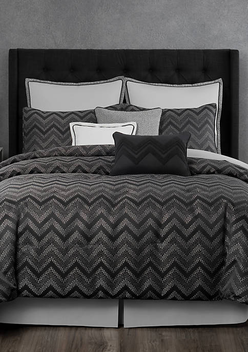 Laundry by Shelli Segal Berkeley Textured Chevron Comforter