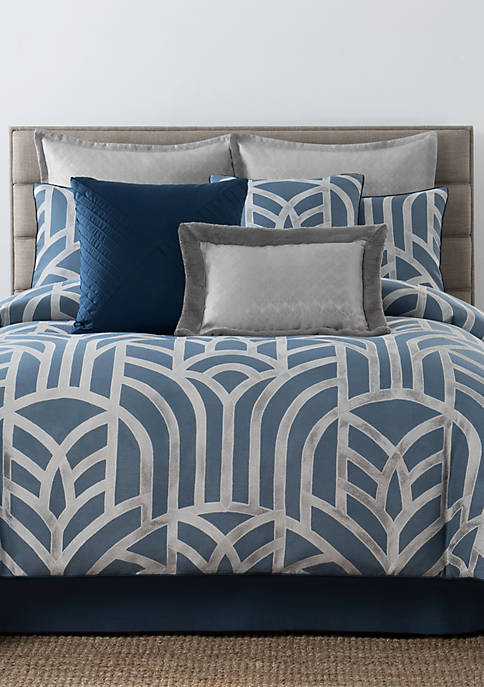 Laundry by Shelli Segal Mayfair Geometric Jacquard Comforter