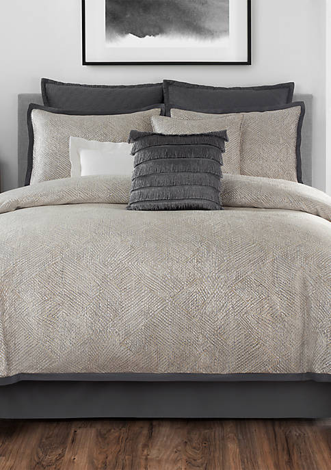 Laundry by Shelli Segal Crawford Textured Jacquard Comforter