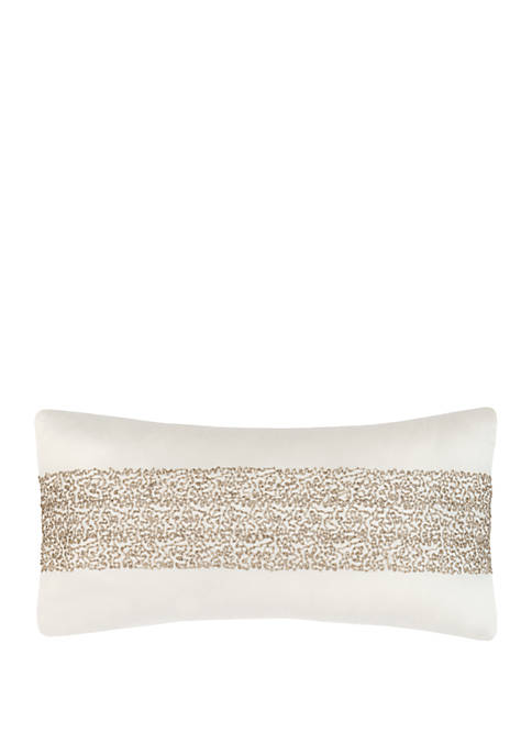 Laundry by Shelli Segal Sonora Beaded Throw Pillow