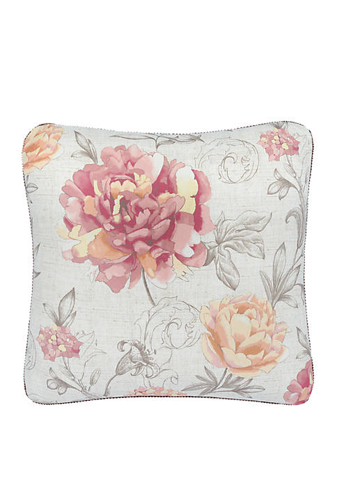 Rose Tree Nadia Floral Throw Pillow