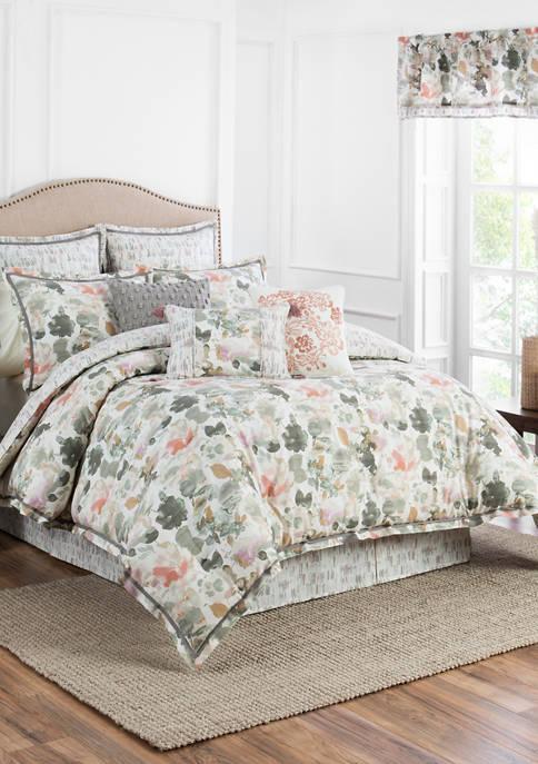 Aqua Fleur 4-Piece Comforter Set