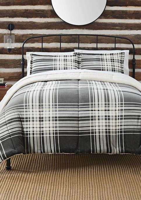 Plaid 3 Piece Comforter Set