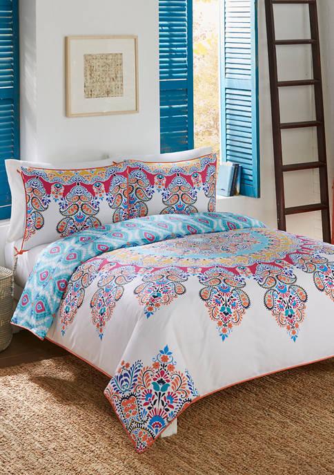 Boho Boutique Gypsy Rose 3 Piece Reversible Comforter