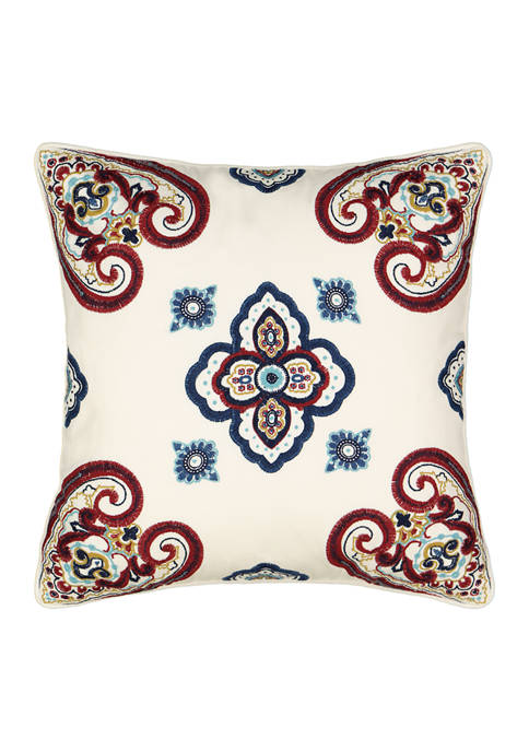 Paisley Pizzazz Embroidered Decorative Pillow