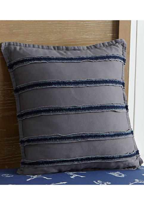 Bridgeport Frayed Edge Decorative Pillow
