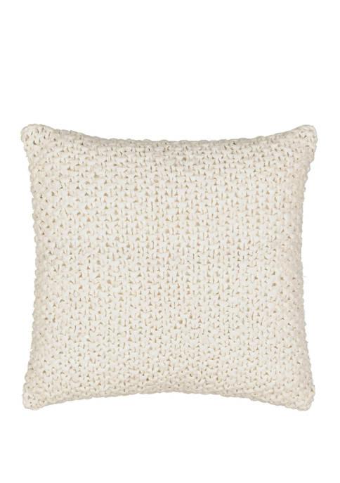 18 Inch Kensington Bloom Gray Woven Decorative Pillow