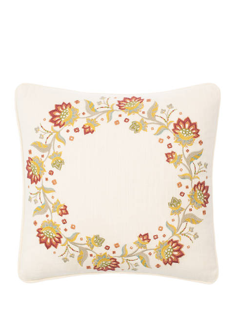 16 in x 16 in Imperial Dress Embroidered Decorative Pillow