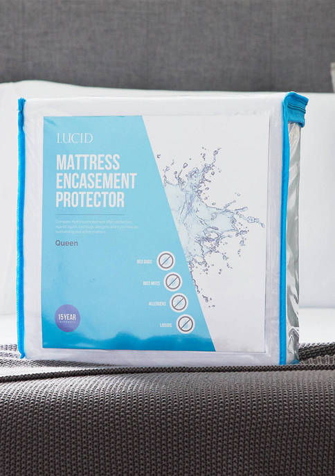 LUCID Dream Collection Encasement Mattress Protector