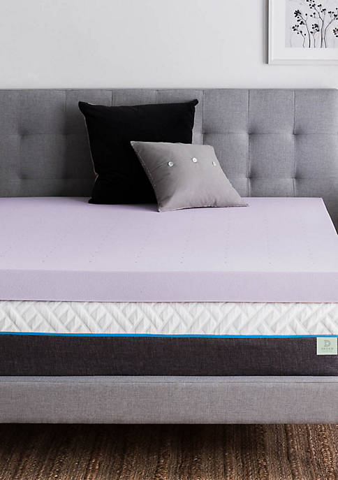 LUCID Dream Collection 4 Inch Lavender Memory Foam