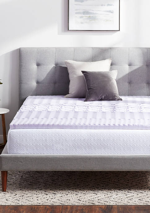 Dream Collection Lavender Zoned Mattress Topper