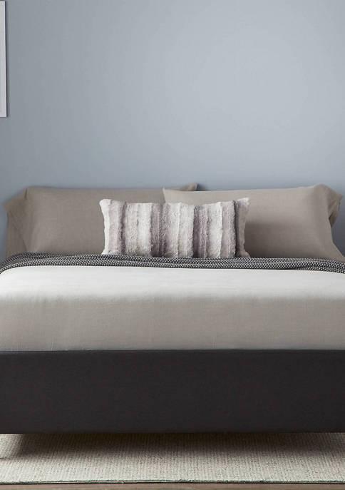 Upholstered Platform Bed with Slats