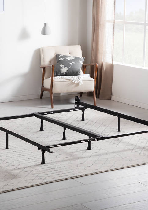 LUCID Dream Collection Universal Adjustable Metal Bed Frame