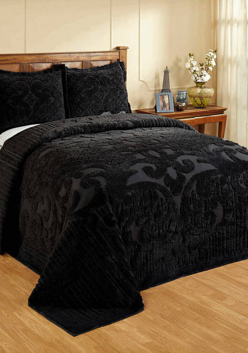 Ashton Collection Medallion Design 100% Cotton Tufted Unique Luxurious Bedspread