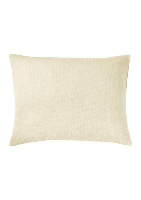 Sophia Collection Diamond Design 100% Poly-Cotton Blend Matelasse Weave Unique Luxurious Standard Sham