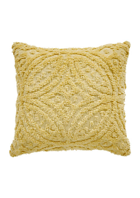 Wedding Ring Collection Loop Design 100% Cotton Tufted Unique Luxurious Square Pillow